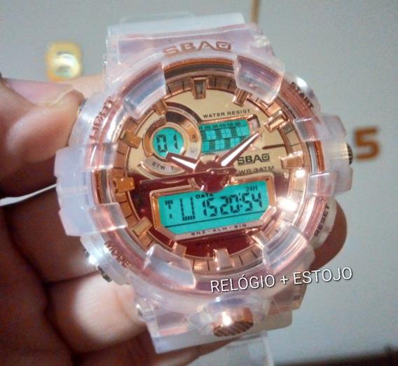Relógio Masculino Feminino Ouro Rose Digital P Dágua # 1155