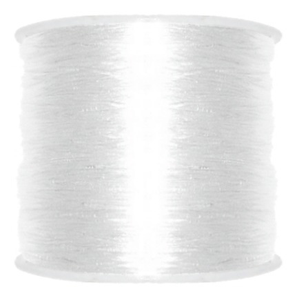 Fio De Silicone Para Pulseiras - Transparente - 1mm - 100m