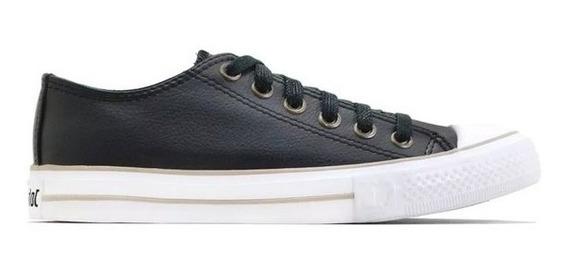 Zapatillas John Foos Unisex Negras Cuero ¡¡envío Gratis!!