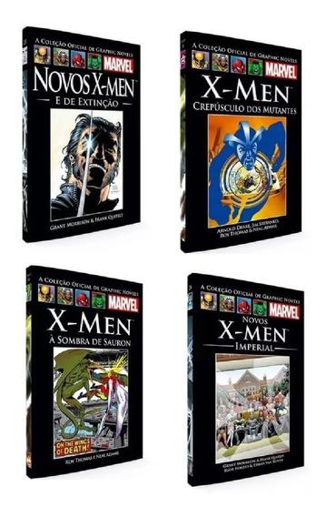 Coleção Oficial Livro Hq Graphic Novels X-men 4 Un