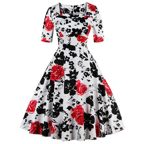 Vestido Vintage Retro Mujer