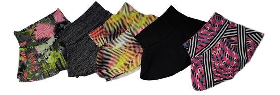 Shorts Saia Suplex Estampado Musculação 5 Pçs Promoção