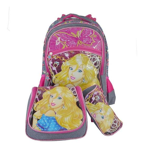 Mochila Escolar Infantil Rodinhas Feminina Princesas Magicas
