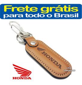 Chaveiro Mosquetão Couro Honda Moto Cb Twister Frete Gratis
