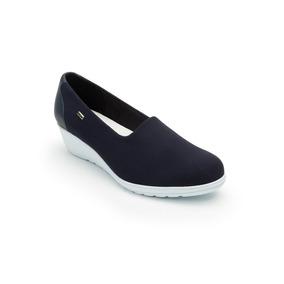Calzado Dama Mujer Zapato Casual Flexi En Textil Azul Comodo