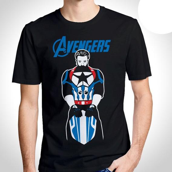 Camisa Camiseta Capitão América Avengers The End Blusa
