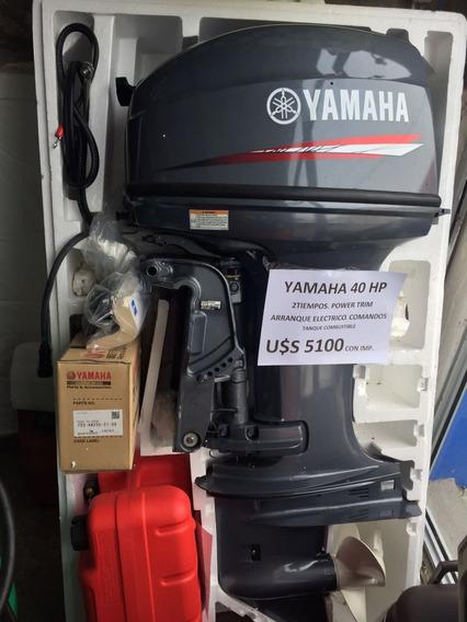 Motor Yamaha 40 Hp Con Comandos Y Power Trim Nuevo