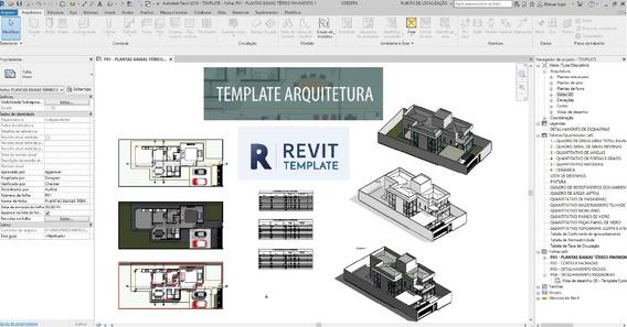 Template Projeto Arquitetônico - Revit + Projeto - Barato