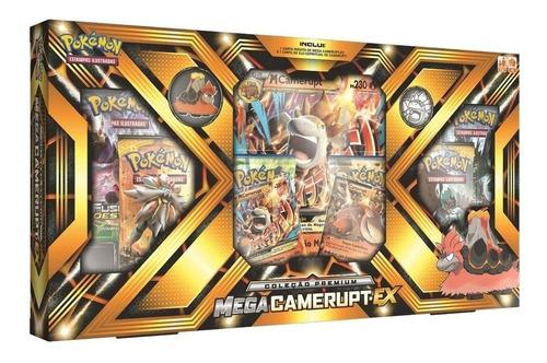 Imagem 1 de 4 de Box Pokémon - Coleção Premium - Mega Camerupt Ex - Copag