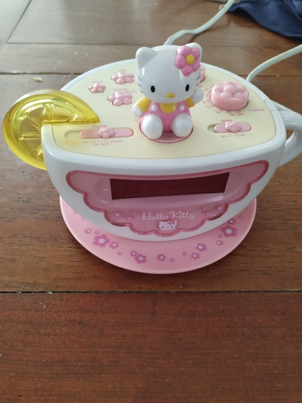 Reloj Despertador Con Radio Hello Kitty Modelo De Tacita
