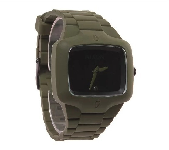 Relogio Nixon Rubber Player Verde Musgo - Orginal