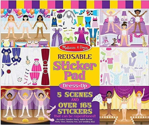 Juego Reusable Sticker Pad - Dress-up