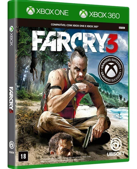 Far Cry 3 - Xbox 360 / Xbox One - Novo - Mídia Física