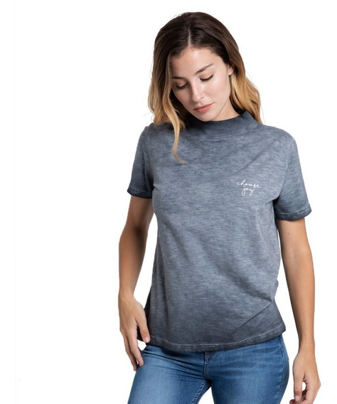 Remera Mujer Rusty Choose Gris