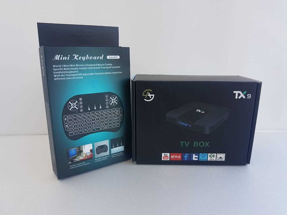 Kit Aparelho Tv Box Boxtv Tx9 2-16gb 4k + Mini Teclado Novo
