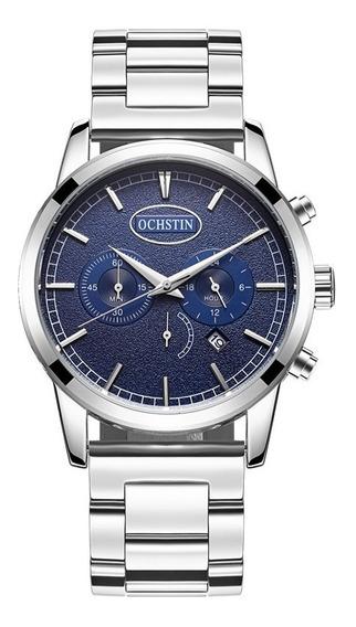 Relógio - Ochstin - Fundo Azul - 44mm - Em Estoque
