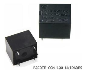 Pacote Relé 12v 10a Com 5 Pinos Com 100 Unidades