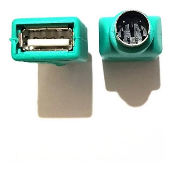 Adapt. P/ Mause E Teclado Ps2 M X Usb Femea 5 Kits C/2peças