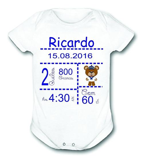 Body Infantil Data De Nascimento Menino Bodies