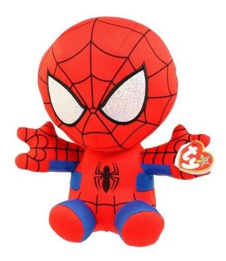 Pelúcia Ty Beanie Babies Original Marvel Spider Man