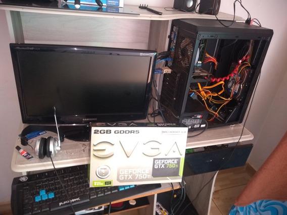 Pc Gamer I3 2100 3,10 Ghz 6ram Placa De Vídeo Gtrx 750ti 2gb