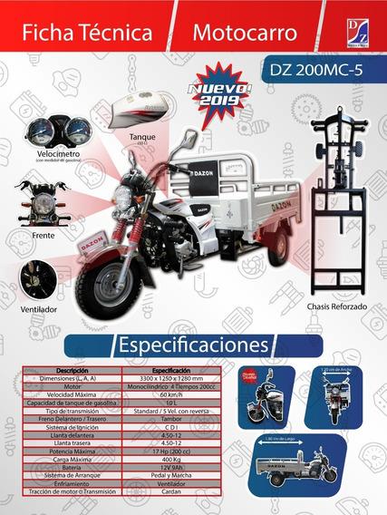 Motocarro Dazon Dz200mc Año 2020 Garrafonero,de Caja Grande