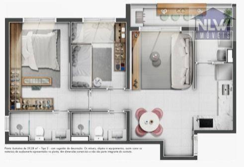 Imagem 1 de 26 de Apartamento Com 2 Dormitórios À Venda, 59 M² Por R$ 342.206,79 - Vila Rosália - Guarulhos/sp - Ap4124