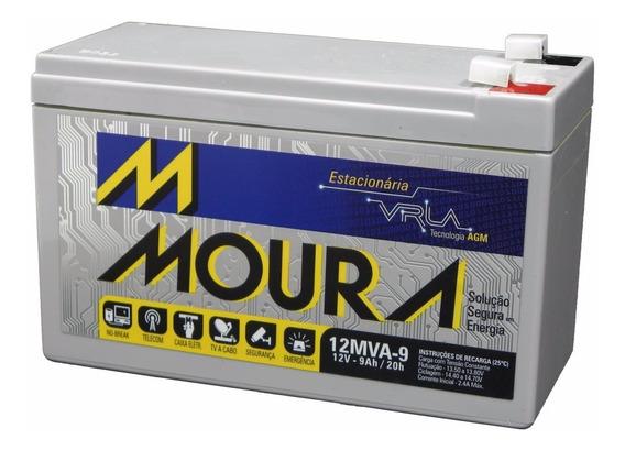 Bateria 12v 9a Moura Reposição Bike Elétrica Chronos 12mva-9
