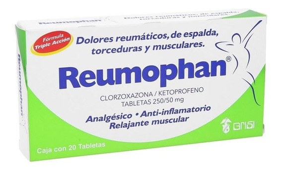 Relajante Muscular Reumophan 20 Tabletas Grisi