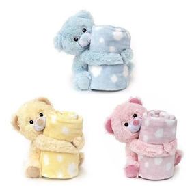 Manta Soft Ursinhos Pelúcia Bebê Cobertor Anti-alérgico.