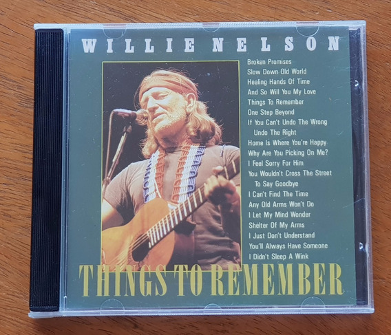 Cd Willie Nelson - Things To Remember