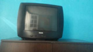 Televisor Usado Philips De 21 Pulgadas,impecable Sin Control