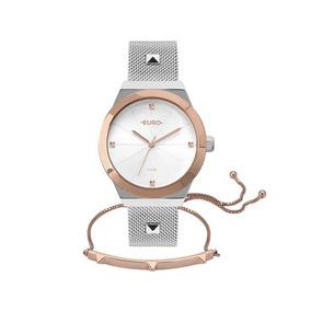 Relógio Euro Feminino Unique Prata/rosê Eu2035yri/k5k