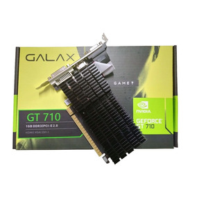 Placa De Vídeo Nvidia Geforce Gt 710 1gb Ddr3 Pcie 2.0 Galax