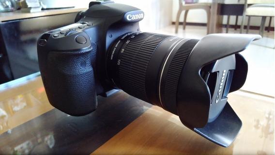Câmera Canon Eos 60d, Luz De Led, Bolsa De Brinde
