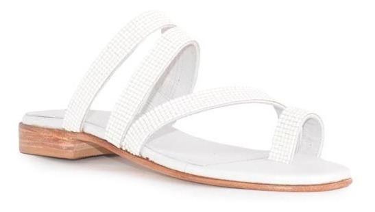 Sandalias De Mujer De Cuero Mule Zueco Anastasia - Ferraro