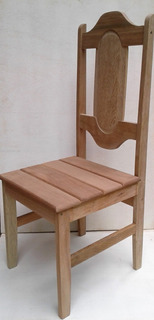 2 Cadeiras Em Madeira Angelim Pedra Crua, Lixada