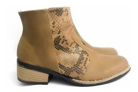 Zapato Bota Botita Botineta Texana Mujer Octavia