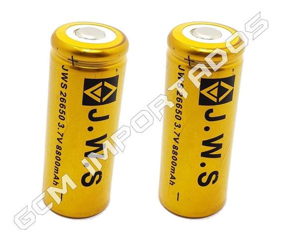 2x Bateria Pilha Jws Recarregável 26650 8800mah 3,7v Li-ion