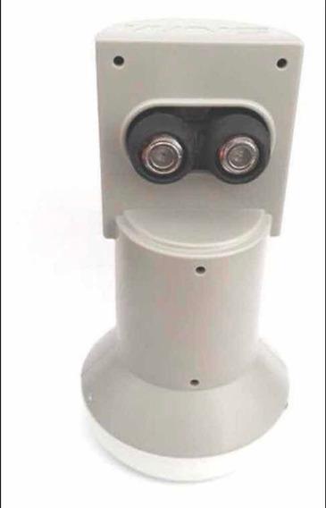 Kit Com 2 Lnb Universal Duplo Offset Antena 60cm A 90cm Wnc