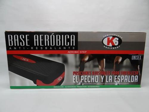 Base Aerobic Gym Escalon Step Anti-resbalante K6 Fitness