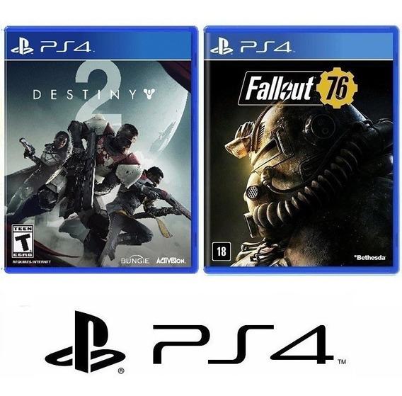 Fallout 76 + Destiny 2 - Midia Fisica Original E Lacrado - Ps4