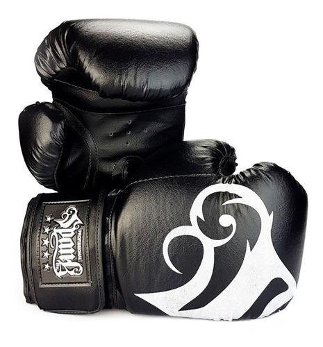 Imagem 1 de 6 de Luva De Boxe E Muay Thai Spank Preto