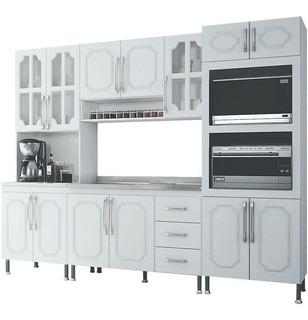 Cozinha Completa Indekes 3 Gavetas 13 Portas 4 Peças