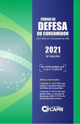 Livro Código De Defesa Do Consumidor 2021 + Placa Adesiva