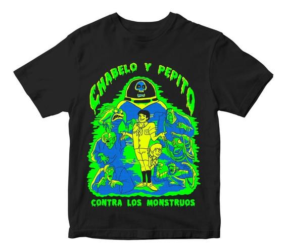 Nostalgia Shirts- Chabelo Y Pepito Contra Los Monstruos