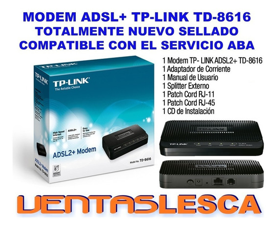 Modem Tp-link Td-8616 Adsl+ Internet Nuevo Sellado Garantía
