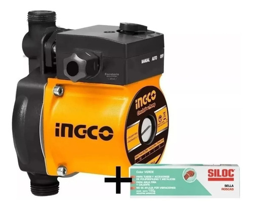 Bomba Presurizadora Ingco 120w Elevador De Presión Baño Tyt