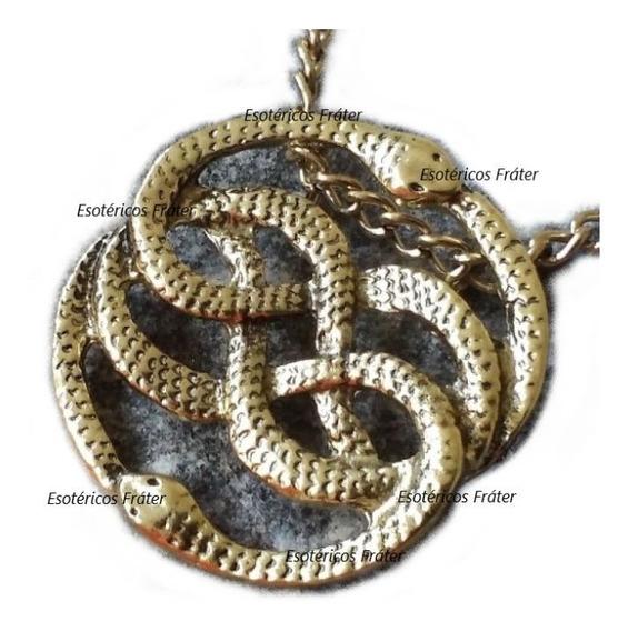 Wuivre Colar Celta Serpentes Entrelaçadas Triquetra Triskle