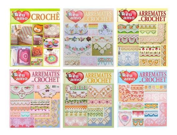 6 Revistas Eu Amo Crochê Arremates Em Crochet Bord. Modernos
